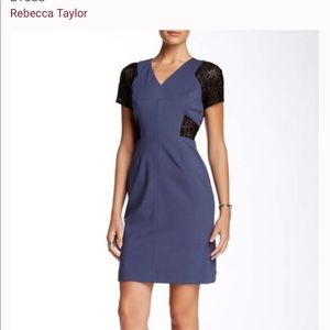 Rebecca Taylor ponte and lace dress size 0 NWT